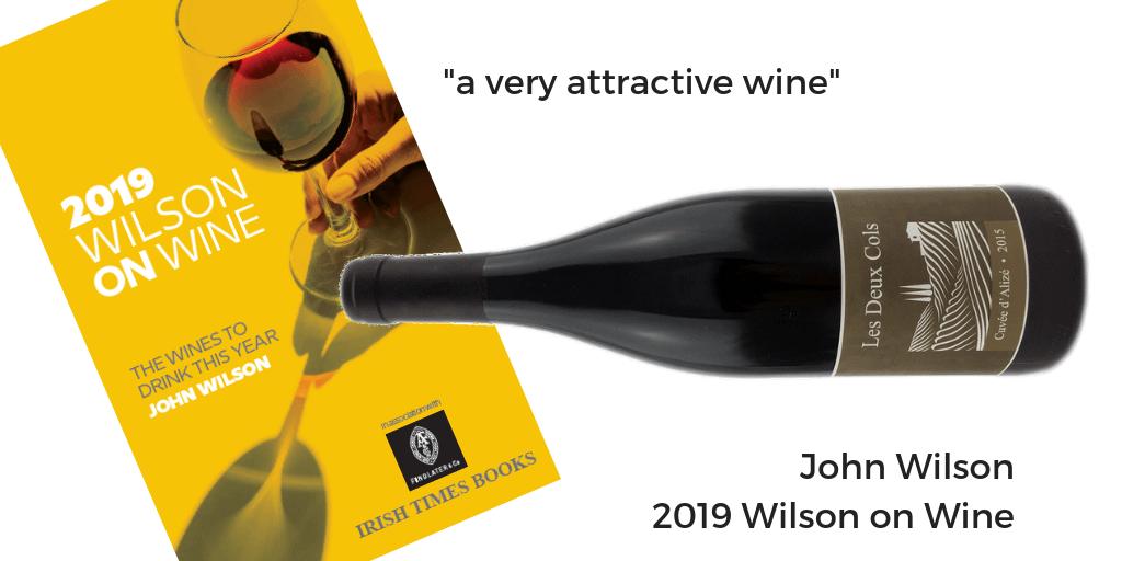 Les Deux Cols Alize 2016 Wilson on Wine 2019