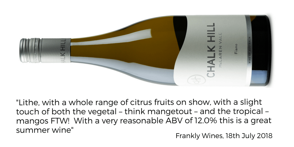 Chalk Hill Fiano Frankly Wines