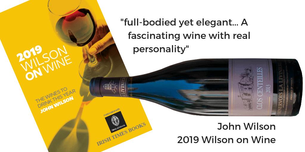 Clos Centeilles 2013 Minervois La Liviniere Wilson on Wine 2019