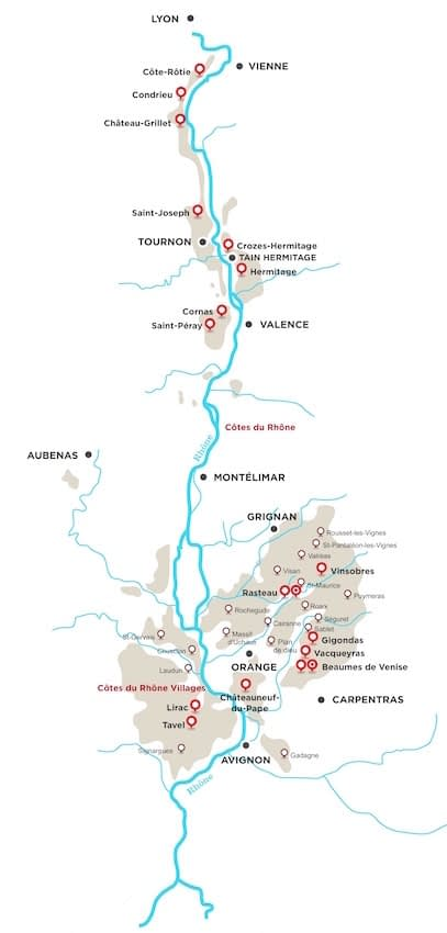Map of Rhone Valley