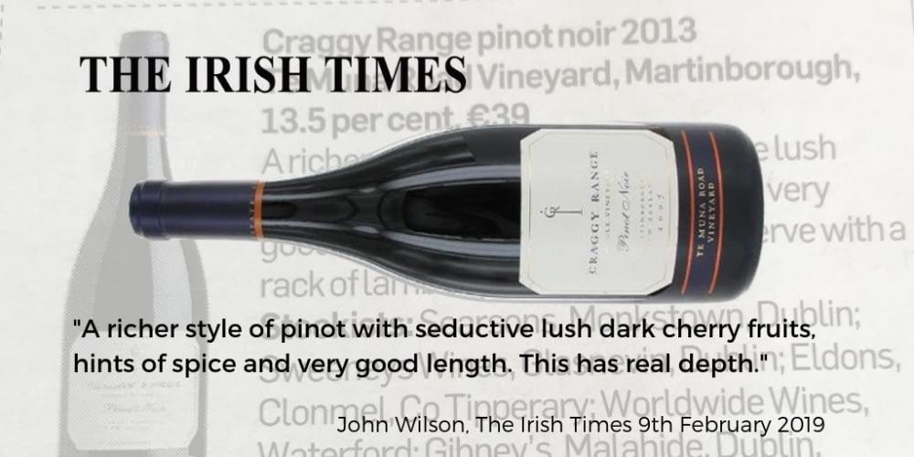 Te Muna Pinot Craggy Range Irish Times